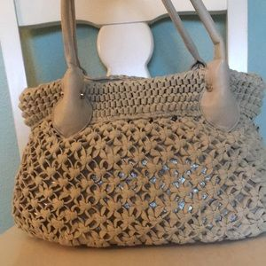 Beige summer handbag
